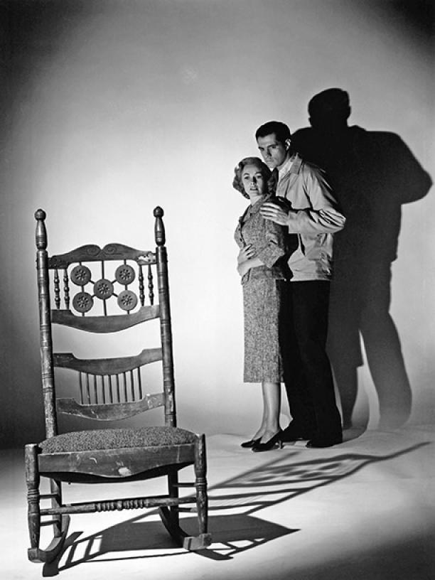 Original Psycho rocking chair photo.