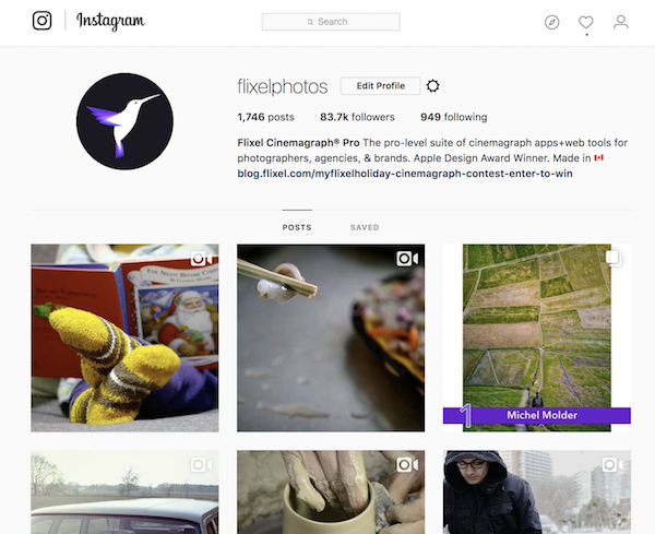Cinemagraphs look great on Instagram