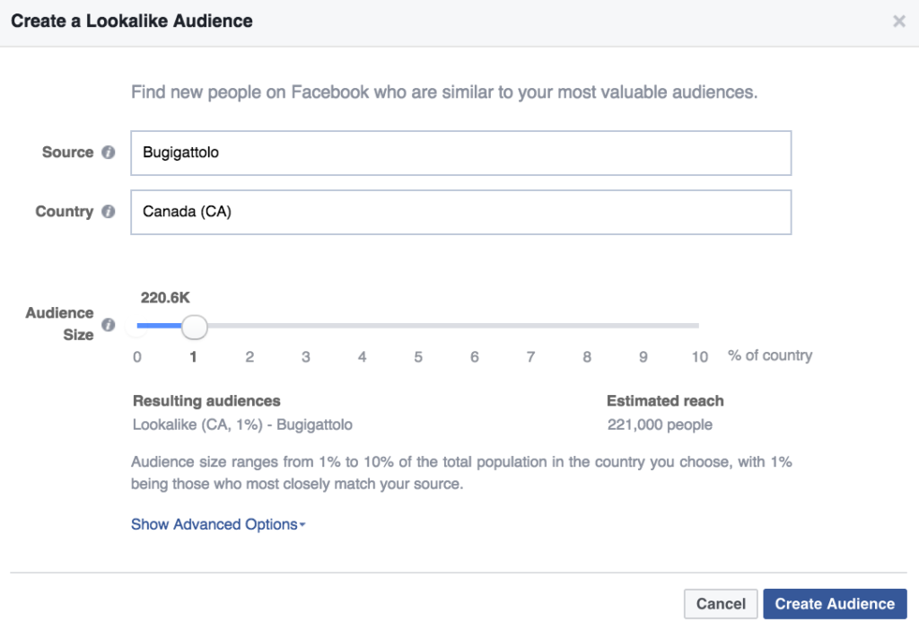 Create Lookalike Audience Facebook Ads