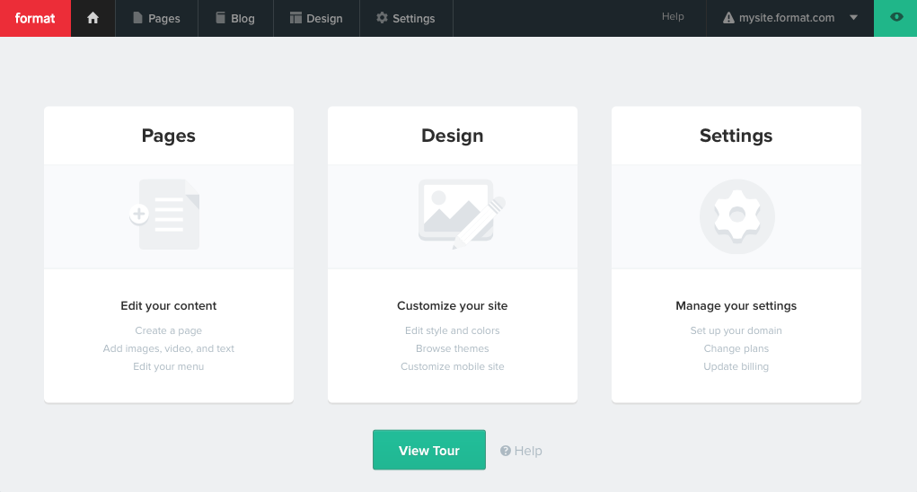 Format Online Portfolio Builder Example